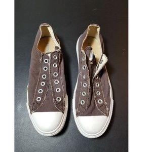 B11 Converse Slip Ons Brown Size Mens 7.5